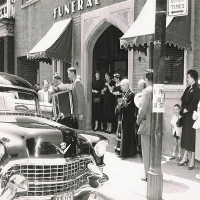 Leaving Funeral Home 1955